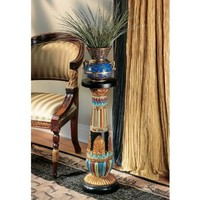 Design Toscano Regal Egyptian Luxor Sculptural Pedestal