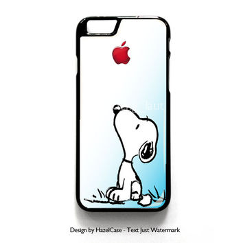 Snoopy Gradient Pink Mint Custome Apple Logo for iPhone 4 4S 5 5S 5C 6 6 Plus , iPod Touch 4 5  , Samsung Galaxy S3 S4 S5 Note 3 Note 4 , and HTC One X M7 M8 Case Cover
