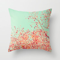 Little dots of red Throw Pillow by Andrea Caroline