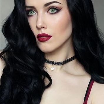 New Arrival Black Wavy Long Synthetic Lace Front Wig