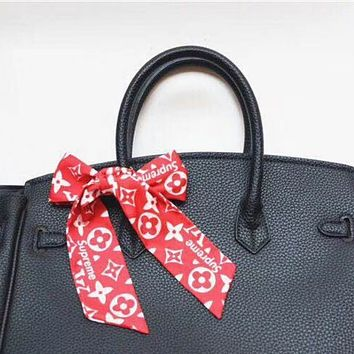 LV Louis Vuitton x Supreme Women Scarf Shawl Silk Scarf