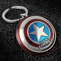 Hot Marvel Super Hero Captain America Pendant Key Chain Ring Holder Trinket llaveros Metal Avengers Keychain Cosplay Jewelry