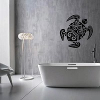 ik1891 Wall Decal Sticker sea turtle tattoo style bathroom living room
