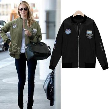On Sale Hot Deal Sports Women's Fashion Stylish Long Sleeve Jacket Baseball [37749784602]