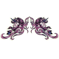 Unicorn Glitter Temporary Tattoo 2.5x3.5