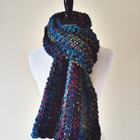 The Colorwul Crochet Infinity Scarf in Ocean