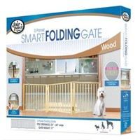 Four Paws Free Standing Smart Folding 3 Panel Dog Gate