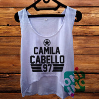 Camila Cabello Fifth Harmony crop tank Women's Cropped Tank Top