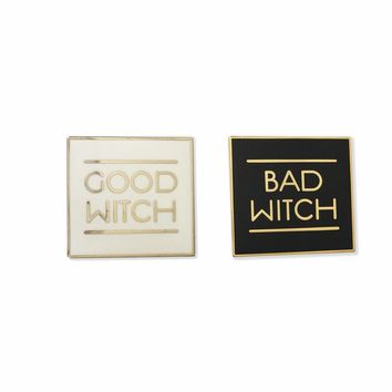 Good Bad Witch Enamel Pin