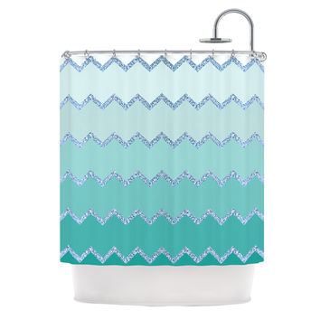 "Monika Strigel ""Avalon Mint Ombre"" Aqua Green Shower Curtain"