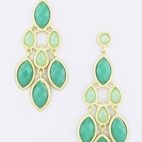 Sea Foam Chandelier Earrings on Luulla
