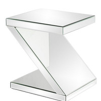 Howard Elliott Z-Shaped Mirrored End Table  - Howard Elliott 11092