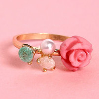 Rose and Aahs Pink Rose Ring