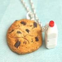 cookie and milk necklace