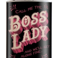 Boss Lady Stainless Steel Flask - 8oz.
