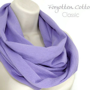 Infinity Scarf Lavender Lilac Light Purple Pastel