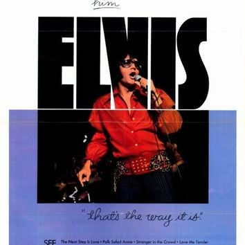 Elvis: That's the Way It Is 27x40 Movie Poster (1971)