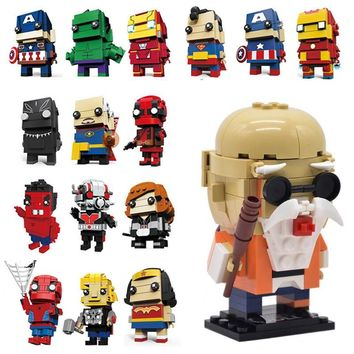Dragon Ball Z Brickheadz SuperHero IronMan Marvel Batman set Model Building Block Bricks Heads compatible legoingly Toy for Kids