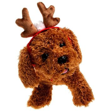 Puppy Teddy Kitten Christmas Elk Antler Reindeer Costume For Pet Cat Dog Cap Hat