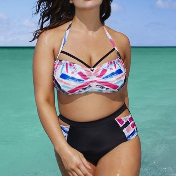Bikini fashion cute  Swimsuits Swimwear Women Sexy Bikinis plus size