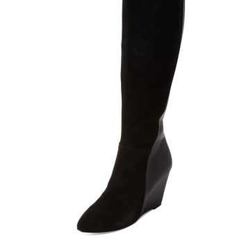 Charles by Charles David Women's Easton Suede Wedge Boot - Black -