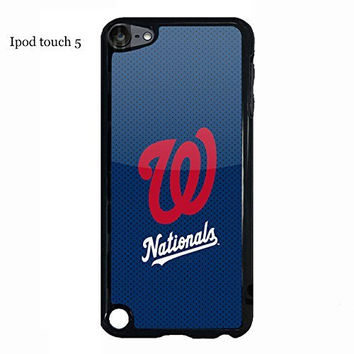 Ipod touch 5 5th generation Case Cover Protection Design MLB Washington Nationals Baseball Sports Team Logo Ultra Slim Snap on Hard Plastic Phone Accessories for Men Collection Lion