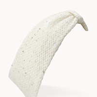 Knotted Sequin-Trimmed Headband