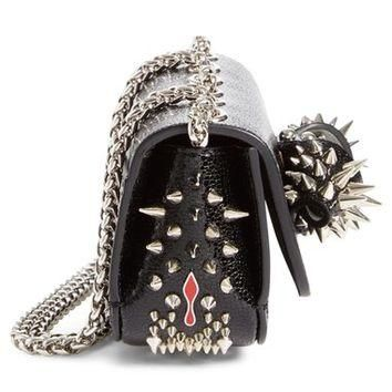 Christian Louboutin 'Sweety Charity Jurassic' Spiked Calfskin Leather Shoulder Bag | N