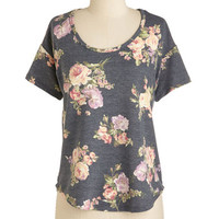ModCloth Mid-length Short Sleeves Bliss Just In Top