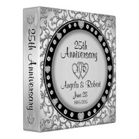 25th Silver Anniversary Monogram Binder