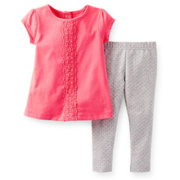 2-Piece Crochet Lace Top & Legging Set