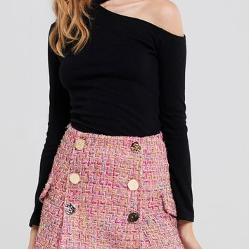 Hera Tweed Classic Skirt Discover the latest fashion trends online at storets.com