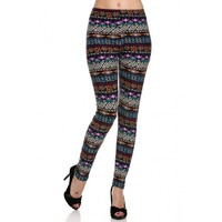 Multicolor Aztec Leggings