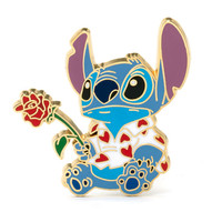 Disney Stitch - Anstecknadel mit Rose | Disney Store