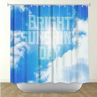 Artistic Shower Curtain | Rachel Burbee | Bright Sunshiney Day | Dianoche Designs