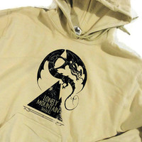 Lonely Mountain Hoodie Sweatshirt Smaug Hobbit Inspired Lord of the Rings Choose Your Colour