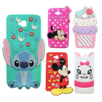 For LG G Pro Lite D680 Cartoon Hello Kitty Marie Cat Ice Cream Bunny Stitch Batman Minnie Soft Silicone Phone Case