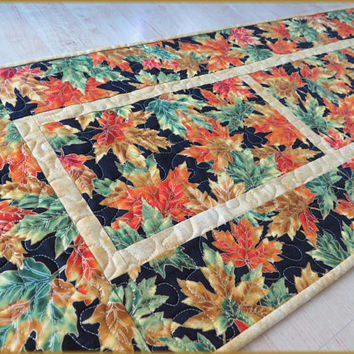 Quilted Autumn Table Runner Shades of the Season 803