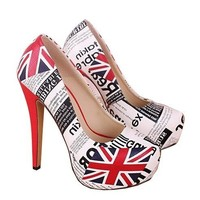 British Flag Sexy 14 cm High Heels Womens stilettos