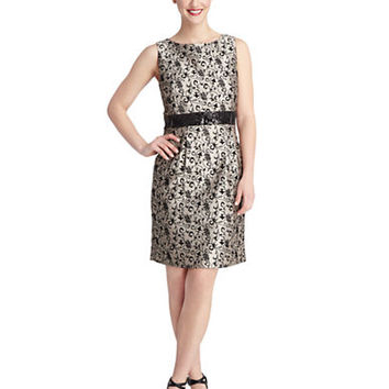 Tahari Arthur S. Levine Sequin Detail Sheath Dress