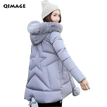 Winter Jackets 2017 Parka Jacket Female Fur Hood Coat