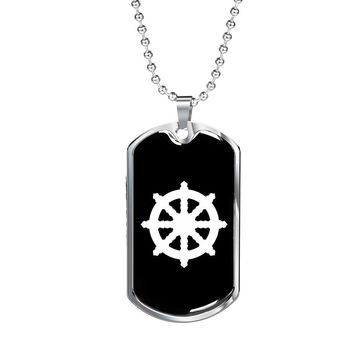 Dharma Wheel v2 - Luxury Dog Tag Necklace