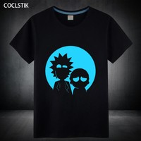 Fluorescent Rick and Morty T Shirt S-5XL