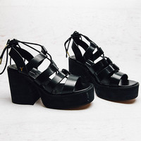 Liquid Heel - Black Leather