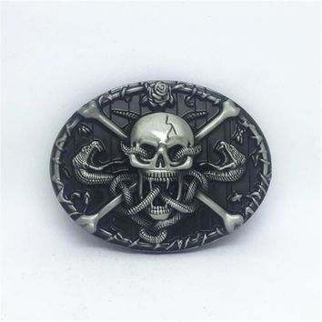 American original skull - west jean belt buckle