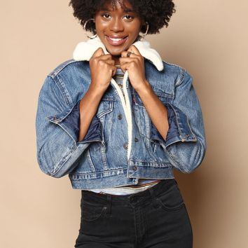 Levi's Cropped Sherpa Trucker Jacket