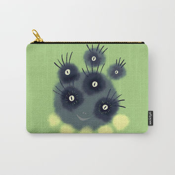 Creepy Cute Spider Face Monster Carry-All Pouch by borianagiormova