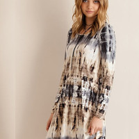 Hello Marbled Dress - Grey/Tan