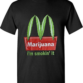 McD Marijuana Weed Leaf T Shirts Hip Hop Graphic New Edition