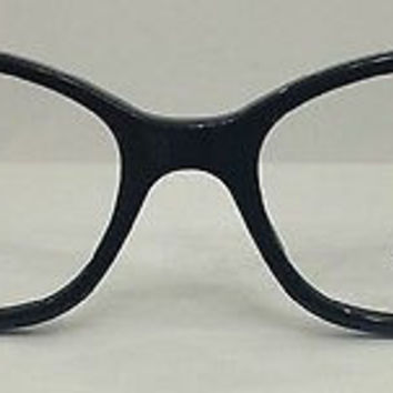 NEW AUTHENTIC VERSACE MOD. 3148 COL 979 BLACK PLASTIC EYEGLASSES FRAME 52-16-135